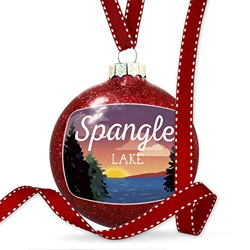 Christmas Decoration Lake retro design Spangle Lake Ornament by Acove