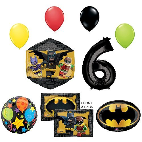 LEGO The Batman Movie 6th Birthday Party Supplies and Balloon Decorations