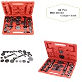 21 Pcs Car Replacement Tool Kit, Coocheer Universal Heavy Duty Disc Brake Piston Caliper Compressor Tool Set and Wind Back Kit for Trunk