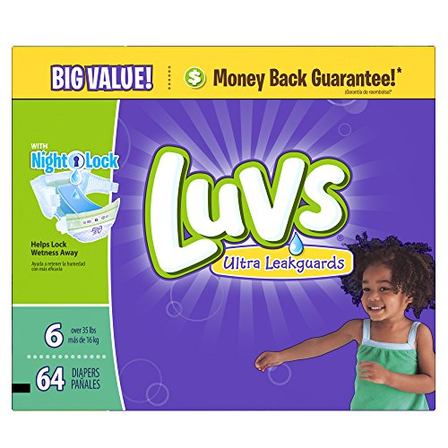 Luvs Ultra Leakguards Diapers (Over 35 lbs) - 64 CT