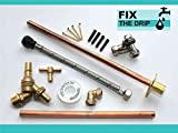 Outside Tap Kit Vandle Proof DIY Professional finish 355 mm through the wall Flange [GT5b]