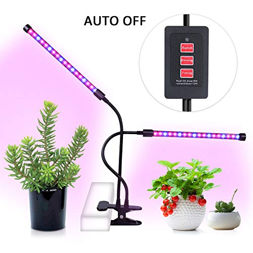 Cheap Plant Grow Lights Indoor with Timer | LED Succulent Grow Lamp Light | MIXC USB 18W Dimmable Growing Light for Indoor Seedling 3 6 12 Hours Timing Lamp with Clip