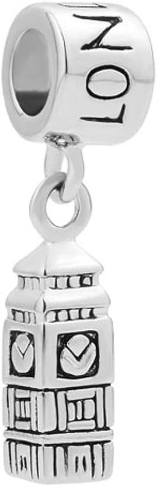 Uniqueen Breloque pour bracelet et collier Motif Big Ben Londres