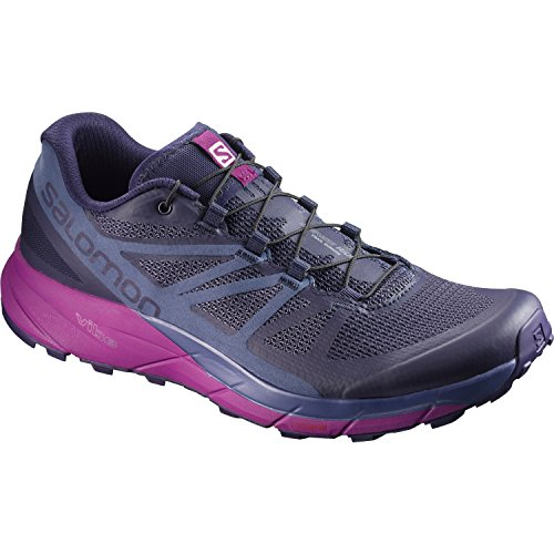 Salomon Sense Ride Trail Running Shoe - Women's Evening Blue/Crown Blue/Grape Juice 6 by Salomon (Image #1)