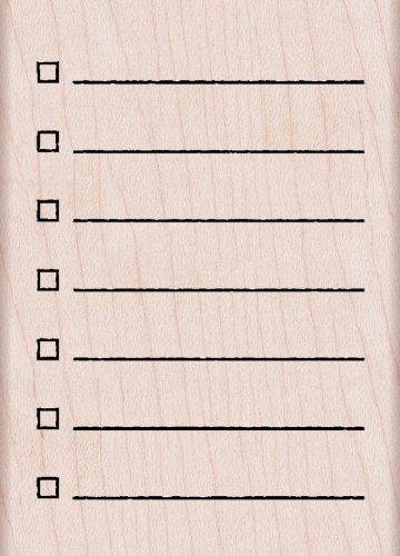 Hero Arts K5780 My Checklist Woodblock Stamp