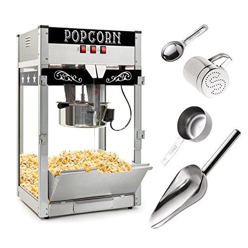 Olde Midway Commercial Popcorn Machine Maker Popper with Large 12-Ounce Kettle - Black