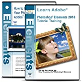 Software : Adobe Photoshop Elements 2018 Training on 3 DVDs Plus Improve Your Photographs on 2 DVDs Disc Bundle, Over 24 Hours in 314 Video Tutorial Lessons
