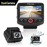 Vikcam Dual Dash Cam, Car Camera Recorder 1080P Full with 2.45' IPS Screen and Sony Senor, 170 Wide Angle Lens Car DVR, G-sensor, Supreme Night Vision with Front and Rear Camera for Cars