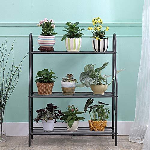 MORINN 3 Tier Metal Plant Stand Scrollwork Design Indoor and Outdoor Flower Rack, Home Storage Organizer Shelf, 27.9''x9.6''x32.6'' by MORINN (Image #1)