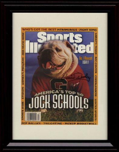 Framed UGA V Sports Illustrated Autograph Replica Print - 4/28/97 - Georgia Bulldogs