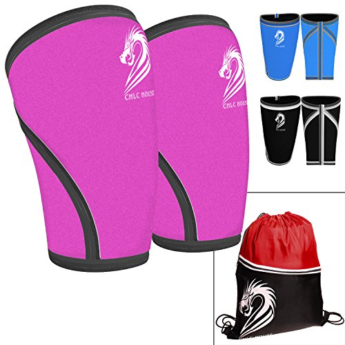 chlc-house-knee-sleeves-1-pair-free-gym-bag-squat-knee-support-compression-for-powerlifting-olympic-