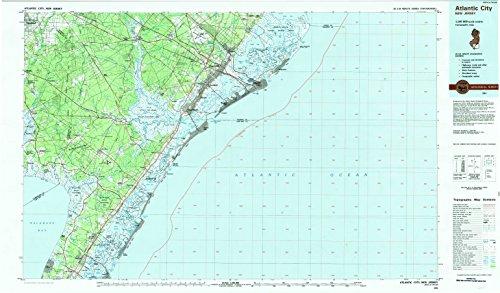Atlantic City NJ topo map, 1:100000 scale, 30 X 60 Minute, Historical, 1984, updated 1985, 24.1 x 41.1 IN - Tyvek