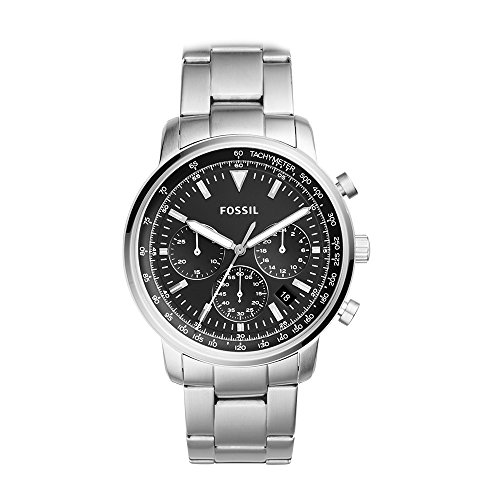 Fossil Men's Goodwin Quartz Watch with Stainless-Steel Strap, Silver, 10 (Model: FS5412)