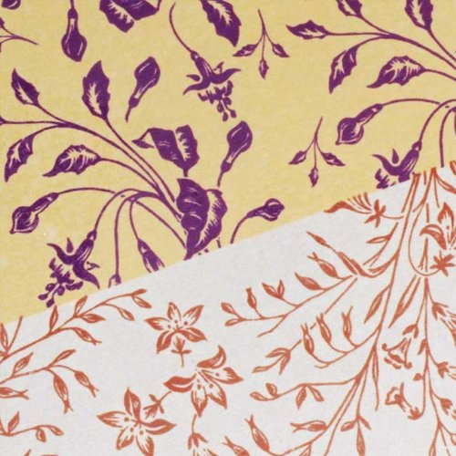 (Nunn Design Transfer Sheet Gold/Silver Florals for Scrapbook -Fits Patera)