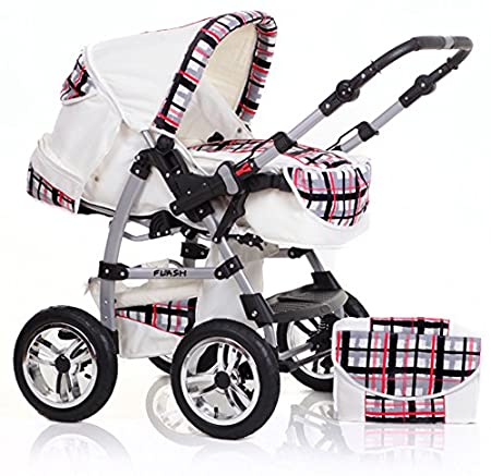 "Buggy Kinderwagen 14 teiliges Megaset in 38 tollen Farben 14 teiliges Qualit/äts-Kinderwagenset 2 in 1 /""FLASH/"" in 38 Farben"