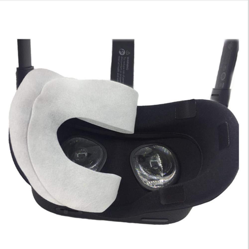 friendly VR M/áscara para los ojos Respirable Sudor puro de algod/ón Absorbente M/áscara para la cara VR Para Oculus Quest//Rift CV1 Rift S//HTC Vive Pro 100Pcs eco meaningful M/áscara VR Desechable