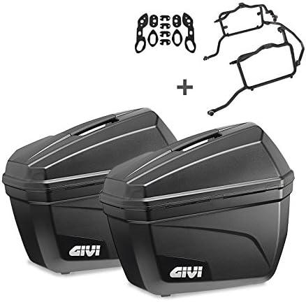 Side Cases Set for Honda NC700X 12-13 Givi Monokey E22N black 22 liter including mounting kit