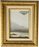 Imperial Frames 6141114 11 by 14-Inch/14 by 11-Inch Picture/Photo Frame, Dark Gold with Floral Design and a Canvas Liner