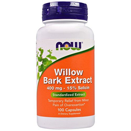 Now Supplements, White Willow Bark 400 mg, 100 Capsules