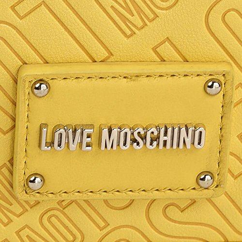 LOVE MOSCHINO BORSA embossed pu GIALLO JC4026PP15LC0400