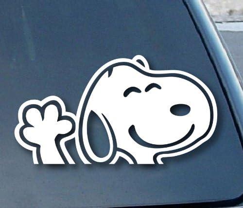 Snoopy Vinyl Aufkleber Für Autofenster 20 3 Cm Breit Weiß Küche Haushalt