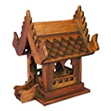 EXP Hand-carved Spirit House Teak Wood Sculpture (Thailand)