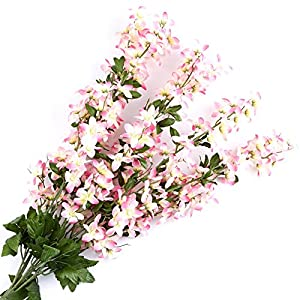 Factory Direct Craft Poly Silk Delphinium Floral Bush | for Indoor Decor 60