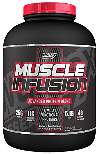 Nutrex Research Muscle Infusion Powder, Chocolate, 5 - Chocolate Infusion