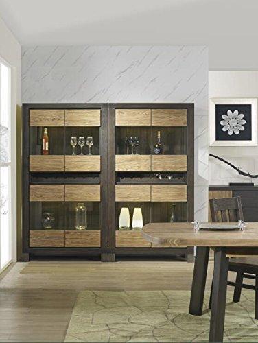 Solid Wooden Four Windows Wine Cabinet Bottle Holder Storage Kitchen Home Bar by Leyuan Furniture