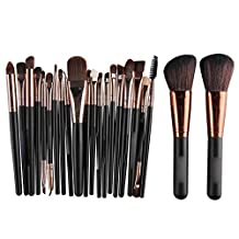 Molie Makeup Brush Set 22 Pcs Professional Cosmetics Brushes Powder Foundation Brush Eyeshadow Eyeliner Blending Brushes Face Makeup Tools Kit - Black/Coffee