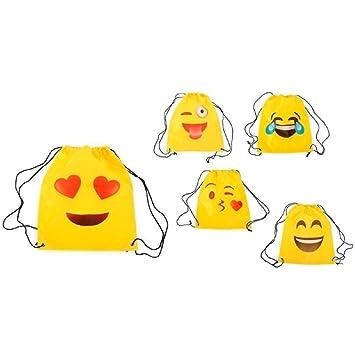 Lote de 20 Mochilas Petate Emoticonos - Mochilas, petates infantiles, infantil para niños y niñas. Regalos, detalles y recuerdos baratos para ...