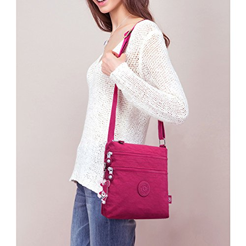 Foino Black Women Bag Girls Travel Bag Crossbody Fashion Side for Pack Messenger Sport Satchel Cross Shoulder Casual Bag Body wHYrUwdq