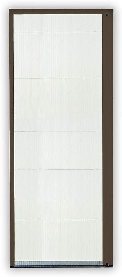 Mosquitera corredera puerta plegable Pro aluminio 160 x 240 cm, color marrón: Amazon.es: Bricolaje y herramientas