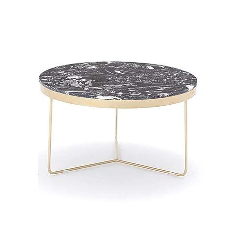 ACZZ Mesa auxiliar de sofá, mesa de café de té de mármol ...