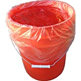 5 Gallon Bucket Liner for Marinading and Brining - Disposable Pail Liner 25 per roll for 22 Qt. Cambro Poly Pail