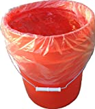 STARK 5 Gallon Bucket Liner for Marinading and Brining - Disposable Pail Liner 25 per roll (25)