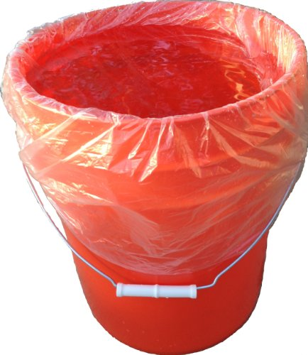 (STARK 5 Gallon Bucket Liner for Marinading and Brining - Disposable Pail Liner 25 per roll (25))