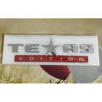 Black TrueLine Texas Edition Side Door Tailgate Emblem