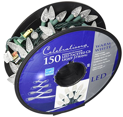 C6 150 Light White Led Light Set