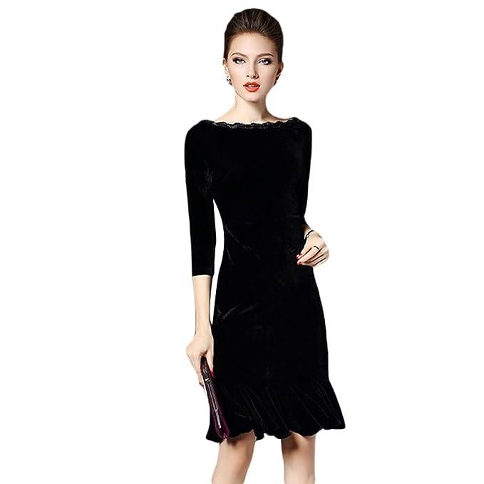 YiLianDa Vestidos de Fiesta Cortos Retro Vintage Elegantes Para Mujer S