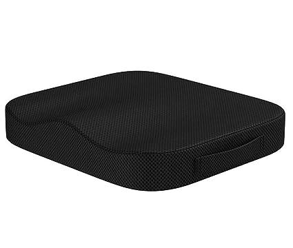 Cojín ortopédico de espuma viscoelástica portátil para asiento de coche o oficina, ideal como cojín