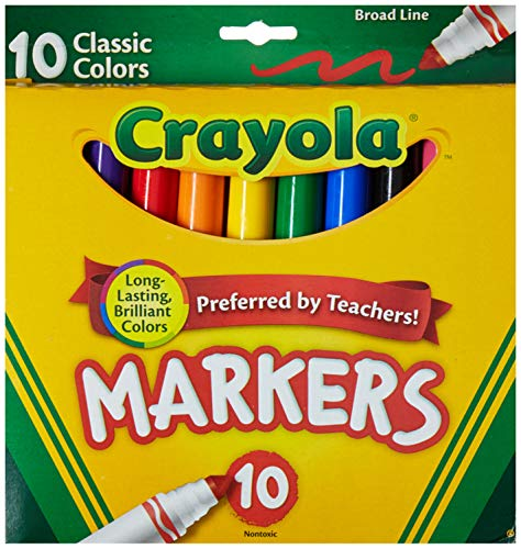 (Crayola Broad Line Markers, Classic Colors 10 Each (Pack of 2))