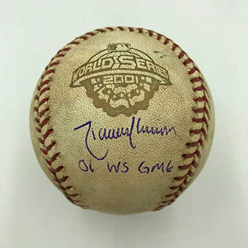 Randy Johnson Autographed Signed 2001 World Series Game 6 Game Used Baseball Steiner Coa - Certified - Baseball Johnson Randy Steiner