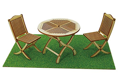 Garden Table & Chair for 1/12 scale House and Figure