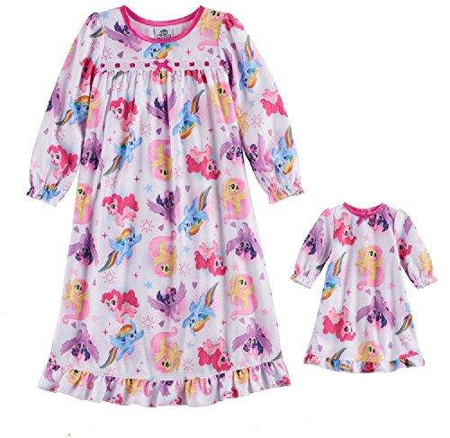 My Little Pony Rainbow Dash, Shutterfly & Pinkie Pie Nightgown & Doll Gown Set - Toddler Girl (My Little Dress Shop)