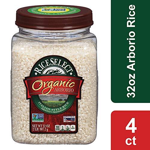 Riceselect Organic Arborio Rice, 32 oz Jars (Pack of 4)