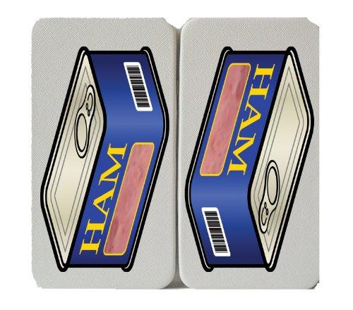Food - Canned Ham Can - White Taiga Hinge Wallet (Hinge Ham)