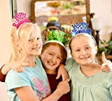 """Multicolored""""Happy Birthday"""" Foil Tiara (Pack of 16 Pcs, 4 of Each Color) 