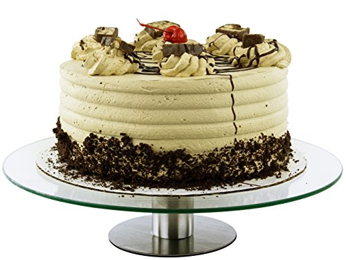 360 Degrees Glass Revolving Cake / Dessert Stand - Holds Up to 12