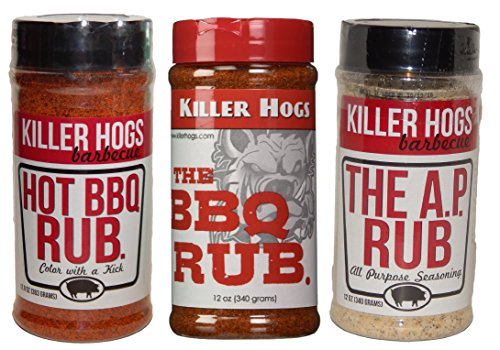 Killer Hogs The BBQ Rub, Hot BBQ Rub, and The A. P. Rub Tri-Pack Set by Killer Hogs (Image #9)